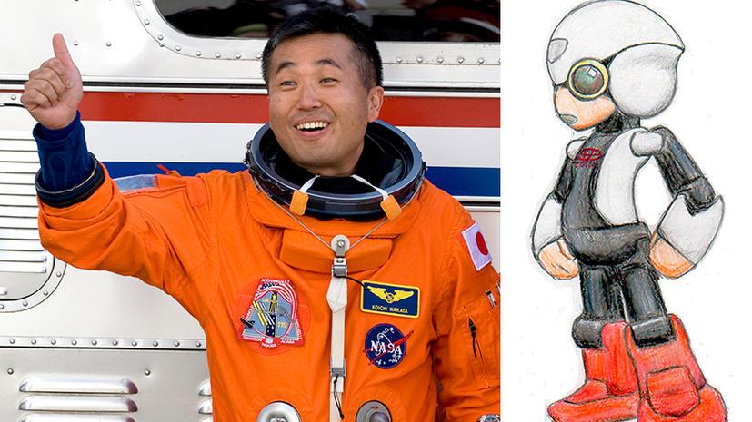 Японского астронавта будет сопровождать на МКС робот-гуманоид