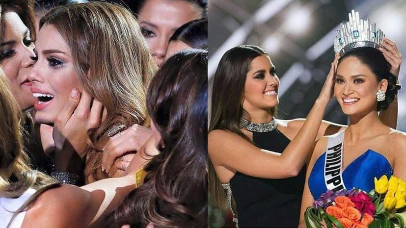 «Мисс Филумбия — 2015»: Ведущий «Мисс Вселенная» по ошибке наградил короной не ту конкурсантку