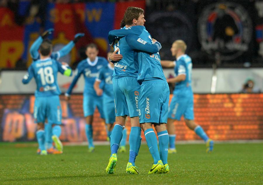 «Зенит» обыграл ЦСКА в матче чемпионата России по футболу