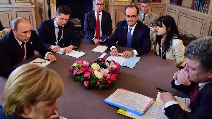 Путин, Меркель, Олланд и Порошенко, как ожидается, сегодня обсудят выход из кризиса на Украине