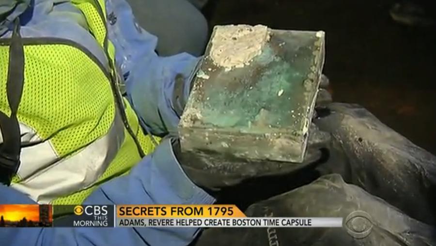 В США обнаружили капсулу времени, оставленную в период Войны за независимость