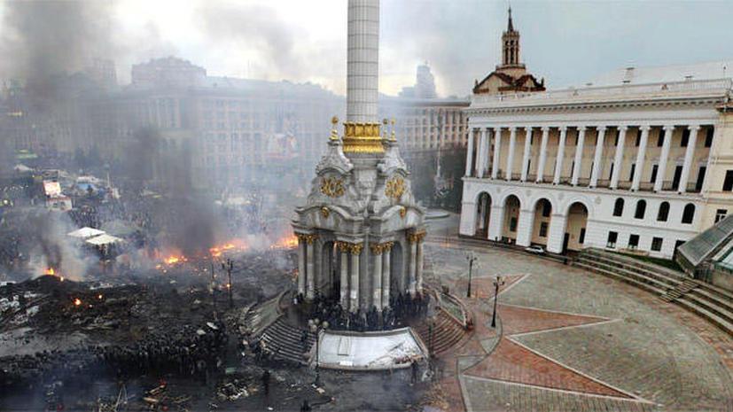 Центр Киева до и после протестов