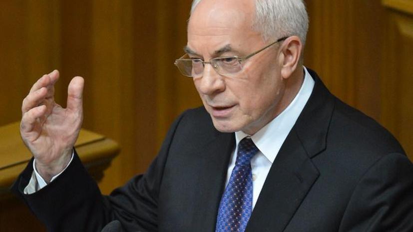 Николай Азаров: Оппозиция готовит план захвата парламента Украины
