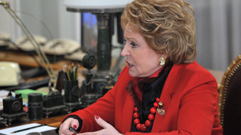 Валентина Матвиенко призывает Сенат США предотвратить катастрофу в Сирии