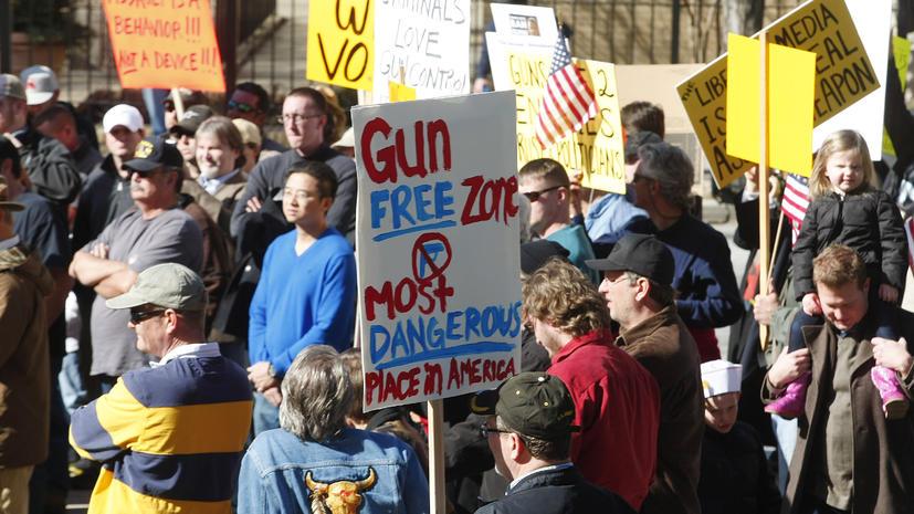 Тысячи защитников оружия вышли на улицы США