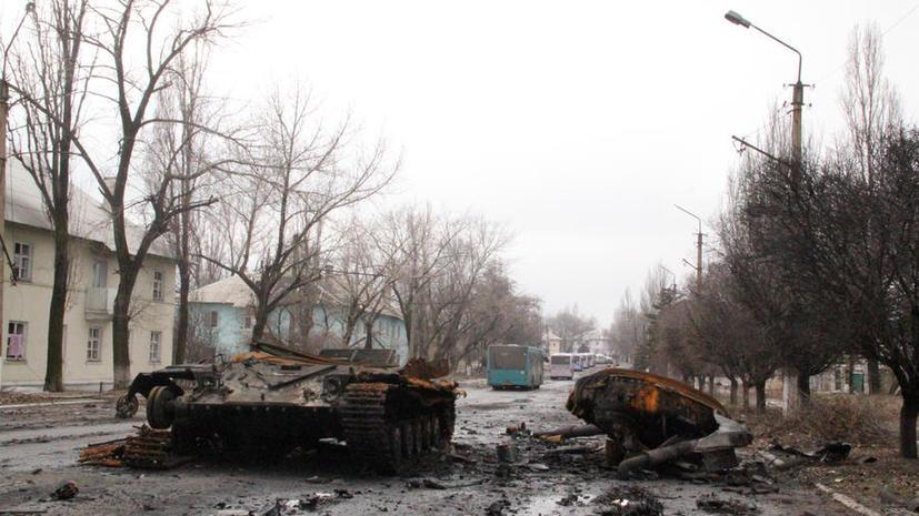 Ополчение ДНР заявило о перекрытии трассы, ведущей к Дебальцеву