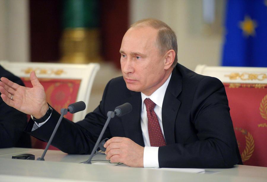 Президент РФ Владимир Путин поздравил Папу Римского Франциска с избранием