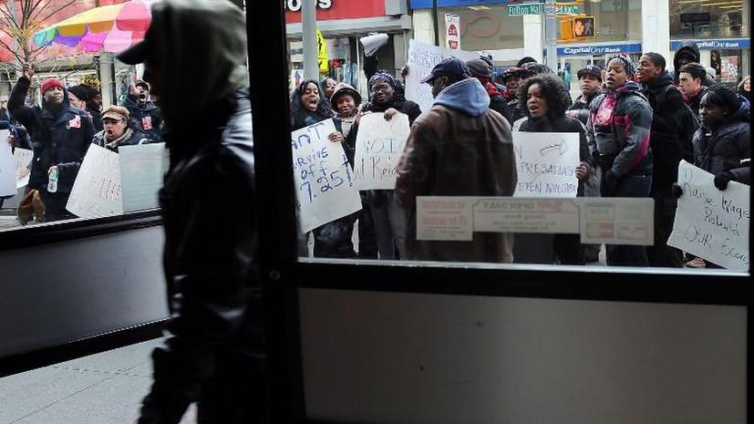 Работники фаст-фуд индустрии отстаивают свои права в Нью-Йорке