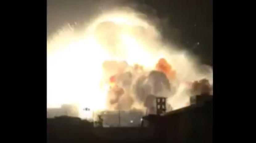 В Китае снова прогремел мощный взрыв на химзаводе