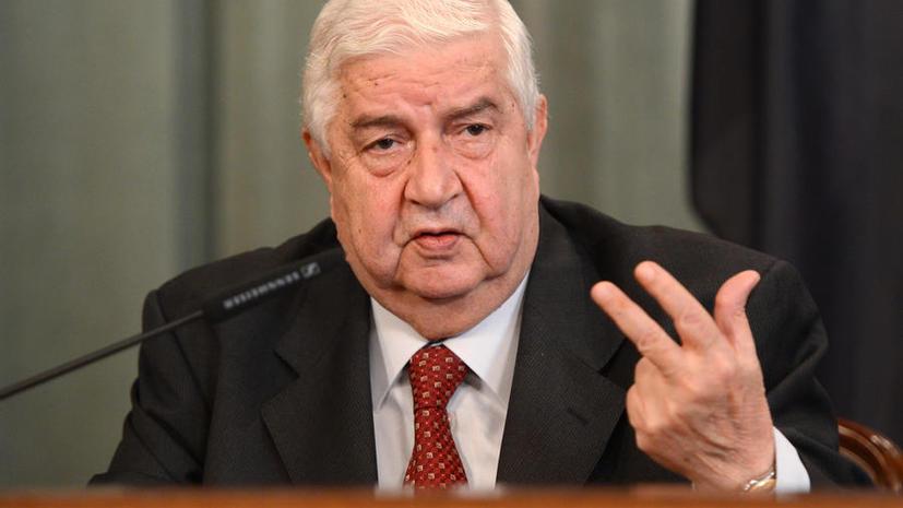 МИД Сирии: Дамаск поддерживает инициативу РФ установить международный контроль над химоружием в Сирии