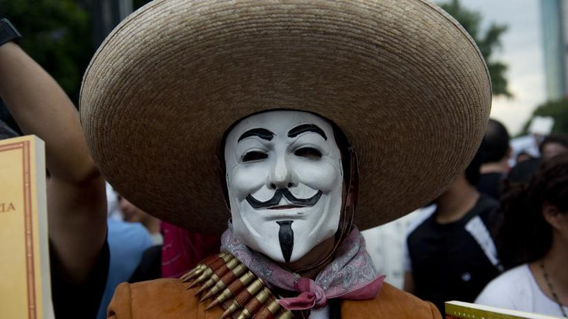 Сайт Минобороны Мексики подвергся атаке хакеров из группы Anonymous