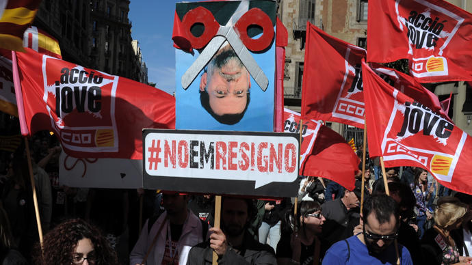 Марши протеста по всей Испании собрали десятки тысяч людей