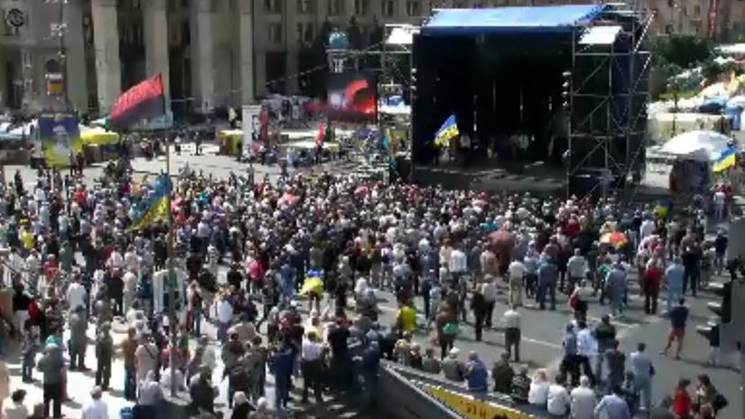 На «народном вече» в центре Киева принято решение провести 17 июня пикет Верховной рады