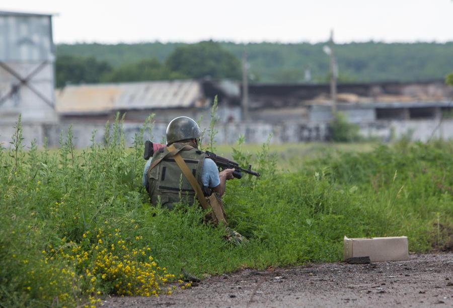 На Украине идёт бой вблизи российского пункта пропуска «Донецк»