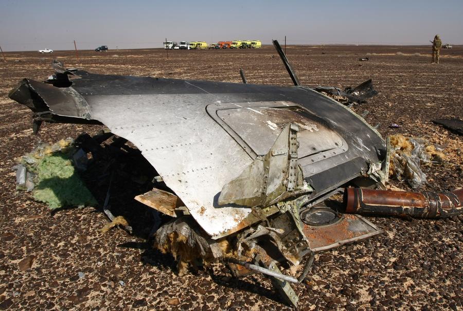 МЧС России продолжает поиски фрагментов тел погибших, частей фюзеляжа A321 и личных вещей пассажиров