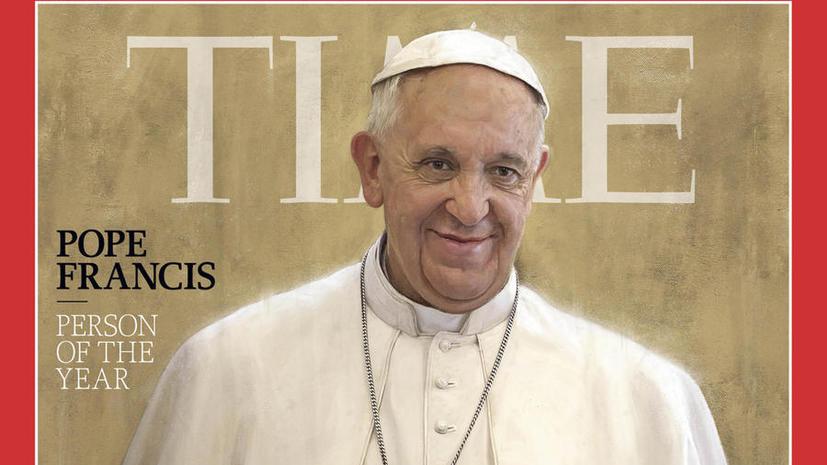 Папа Римский Франциск назван «Человеком года» по версии журнала Time