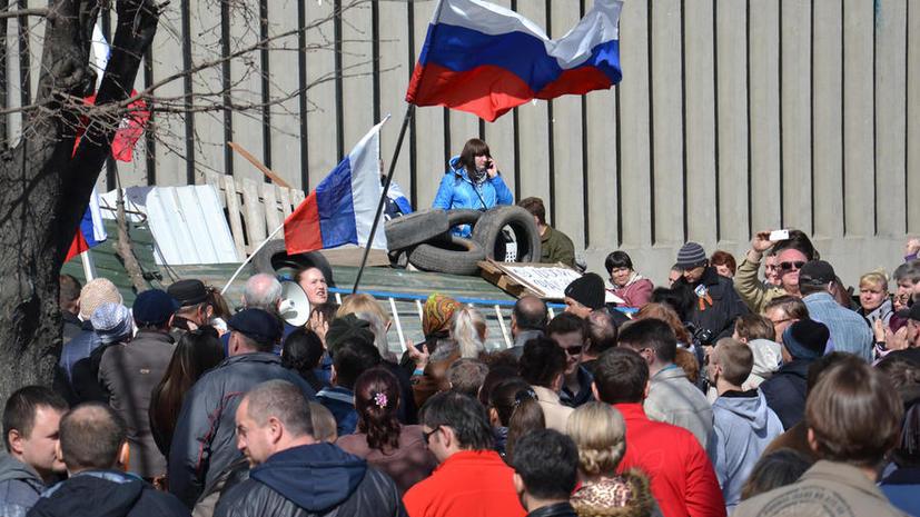 Сторонники федерализации в Луганске провозгласили «народную республику»