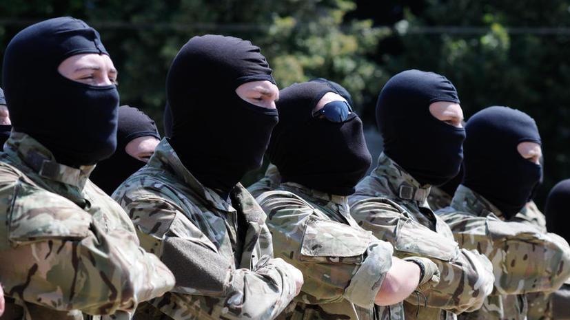Бойцы батальона «Айдар» штурмовали проходную Минобороны Украины