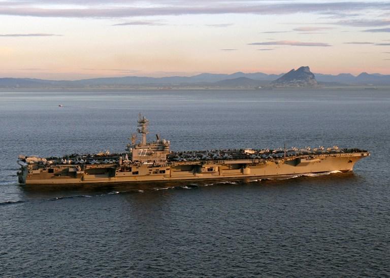 Пентагон продлил пребывание авианосца в восточном Средиземноморье из-за ситуации на Украине