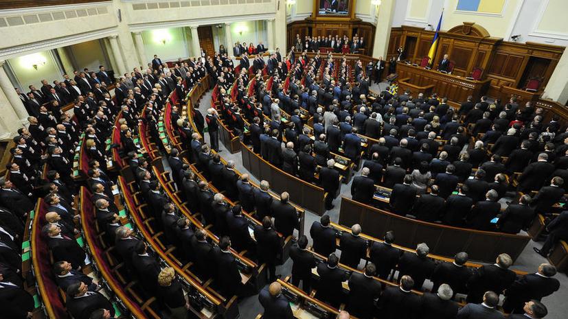 Верховная рада Украины призвала немедленно вернуть военных с юго-востока страны в места постоянной дислокации