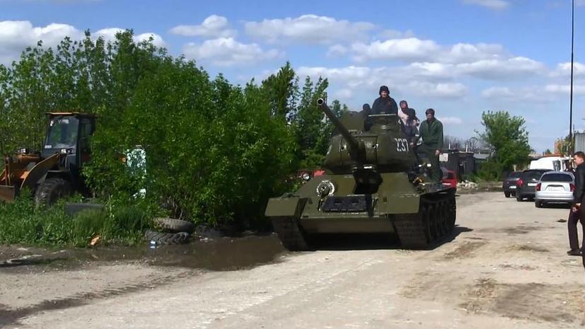 В Луганске отремонтировали и запустили танк Т-34