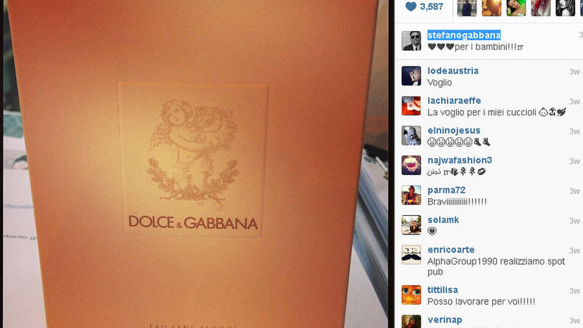 Dolce and Gabbana выпустят духи для младенцев