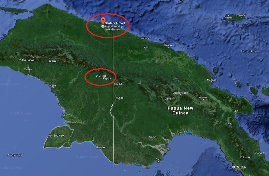 Индонезийский пассажирский самолёт пропал в районе острова Новая Гвинея