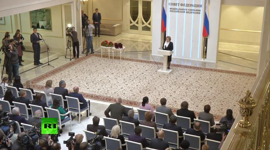 Передача государственных наград родственникам погибших на Украине журналистов