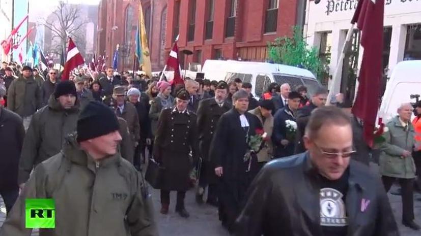 В Риге прошёл парад ветеранов СС