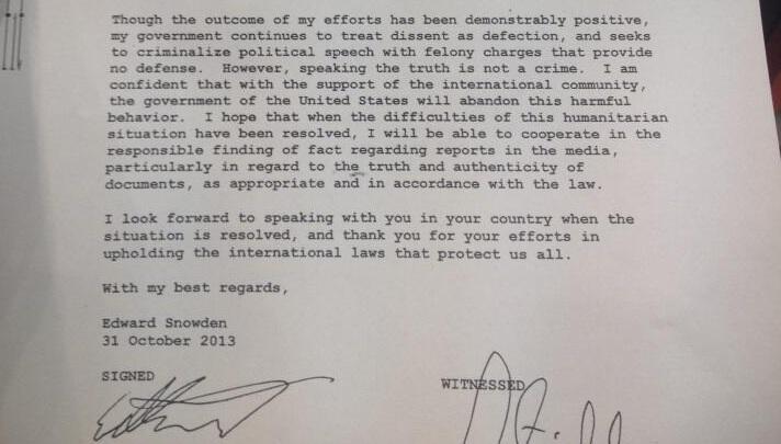 Эдвард Сноуден написал письмо немецким властям: он готов рассказать про слежку АНБ за европейцами