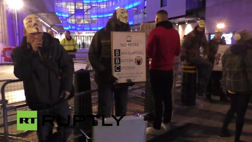 Хакеры Anonymous провели протест против лживости телекомпании ВВС