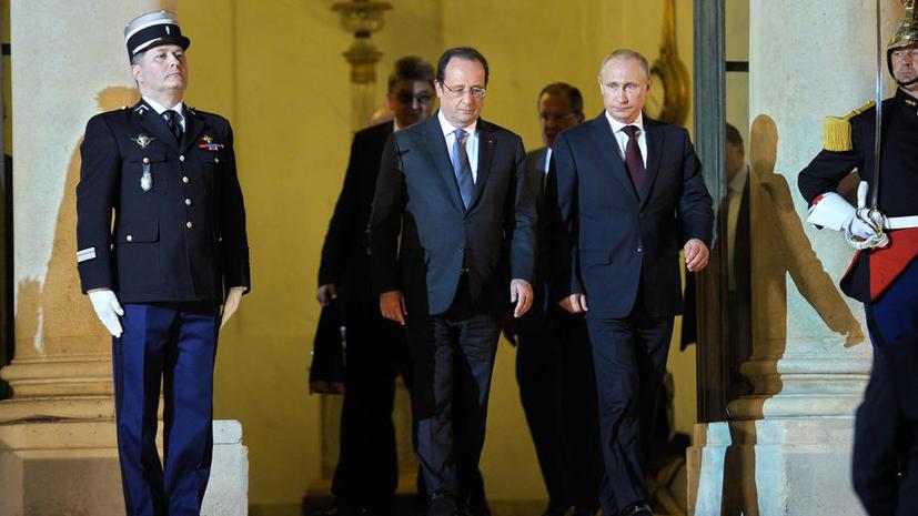СМИ: Олланд поужинал с Путиным в Елисейском дворце, а с Обамой - «по-простому»