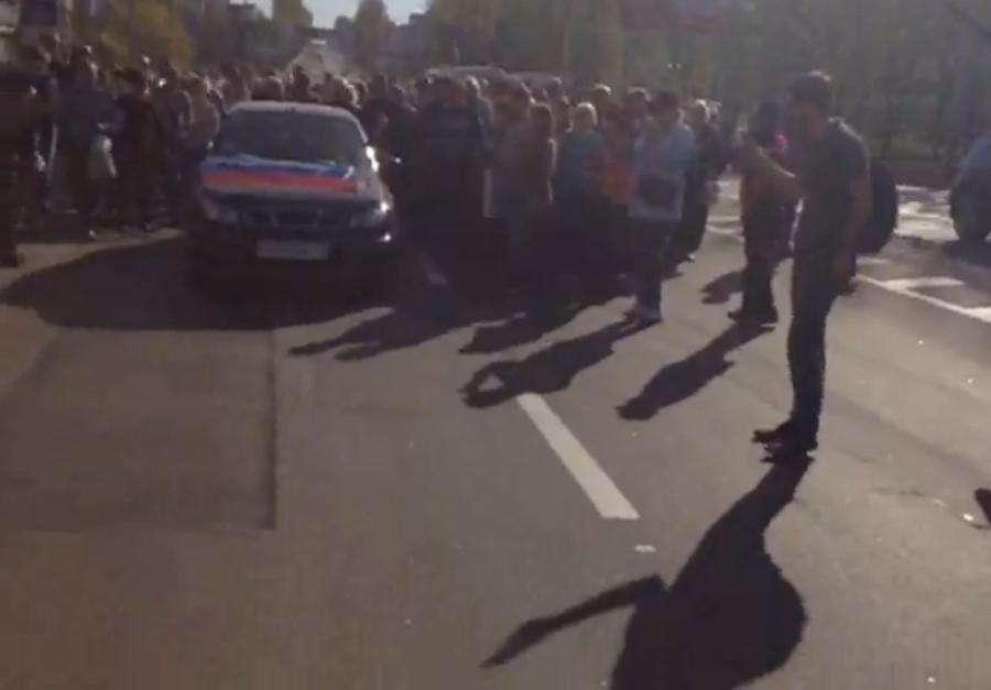 Жители Донецка провели митинг в поддержку Славянска
