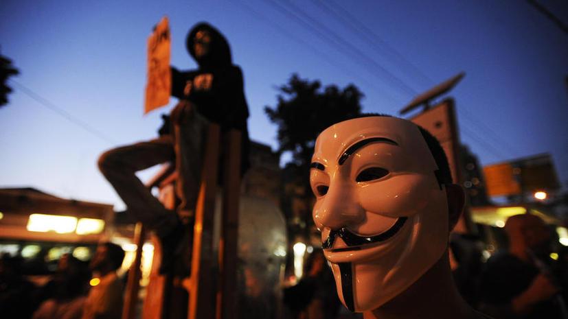 Сайт Anonymous до сих пор не работает после кибератаки израильских хакеров