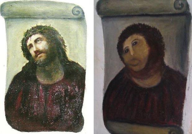 Испорченная фреска Иисуса Христа спасла испанский город от экономического краха