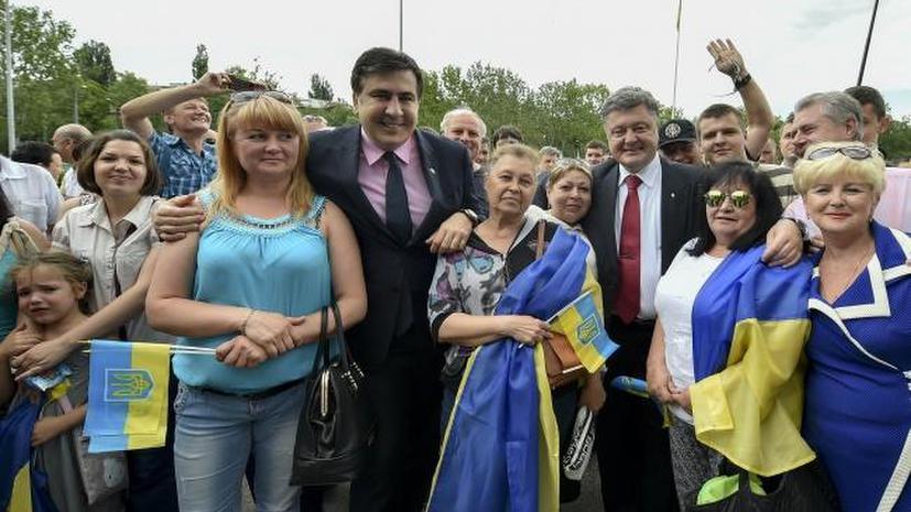 Украинские политики и журналисты высмеяли назначение Михаила Саакашвили