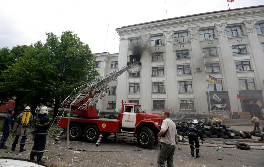 Луганская милиция: Самолёты BBC Украины выпустили по администрации Луганска 20 ракет