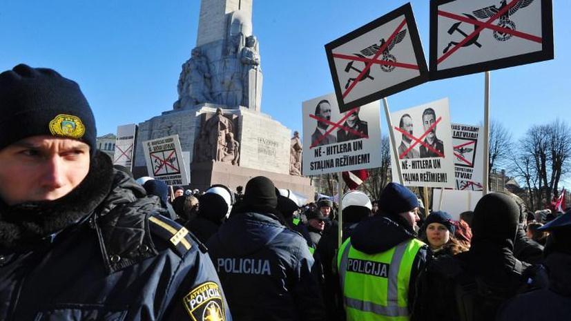 На улицах Риги сошлись националисты и антифашисты