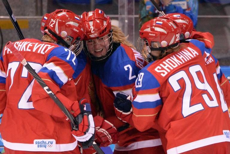 Женская сборная России по хоккею заняла первое место в своей группе