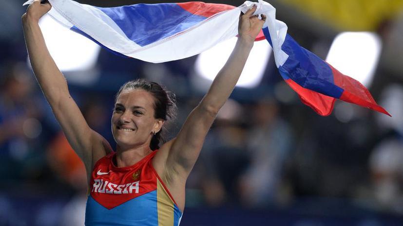 Елена Исинбаева — вторая спортсменка мира по версии спортивных журналистов