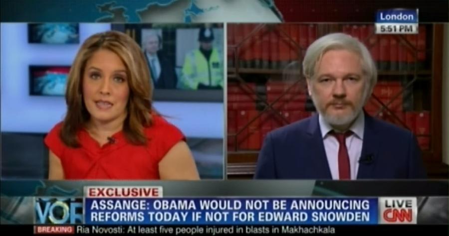 Джулиан Ассанж: В течение 40 минут Барак Обама почти ничего не сказал