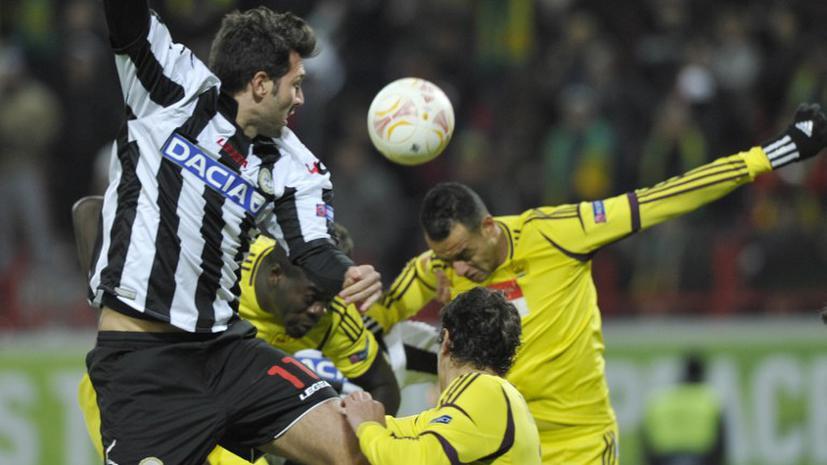 Лига Европы: «Анжи» обыграл «Удинезе» и вышел в плей-офф турнира