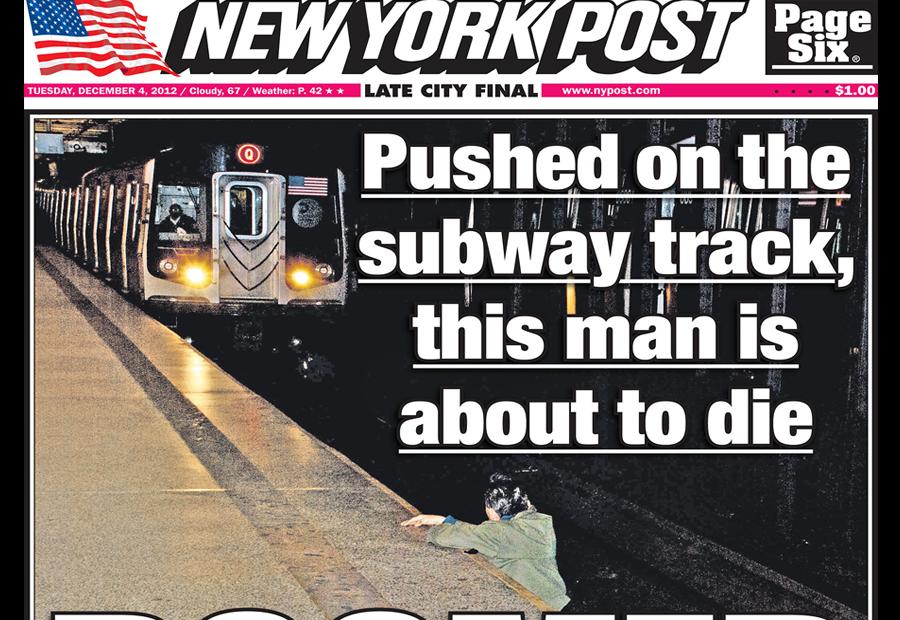 ЧП в метро Нью-Йорка: душевнобольной столкнул пассажира прямо под колеса поезда