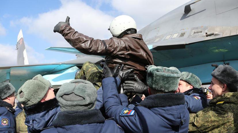 Как российские лётчики покидают Сирию. Наглядно