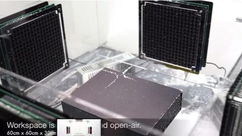 Японские учёные используют звук для перемещения предметов по воздуху