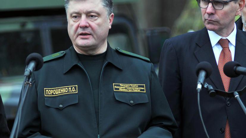 Пётр Порошенко: Мы воспользовались временным затишьем для усиления войск
