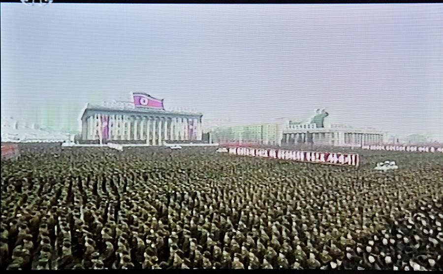 Жители Северной Кореи отметили запуск ракеты массовым митингом