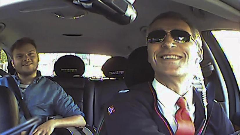 Премьер-министр Норвегии поработал таксистом
