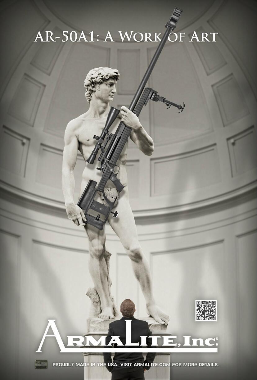 Италия возмутилась, обнаружив скульптуру Давида в американской рекламе оружия