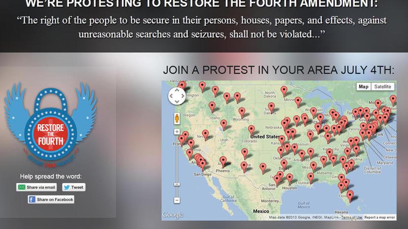 Десятки тысяч жителей США выйдут на акции протеста против действий ЦРУ и АНБ